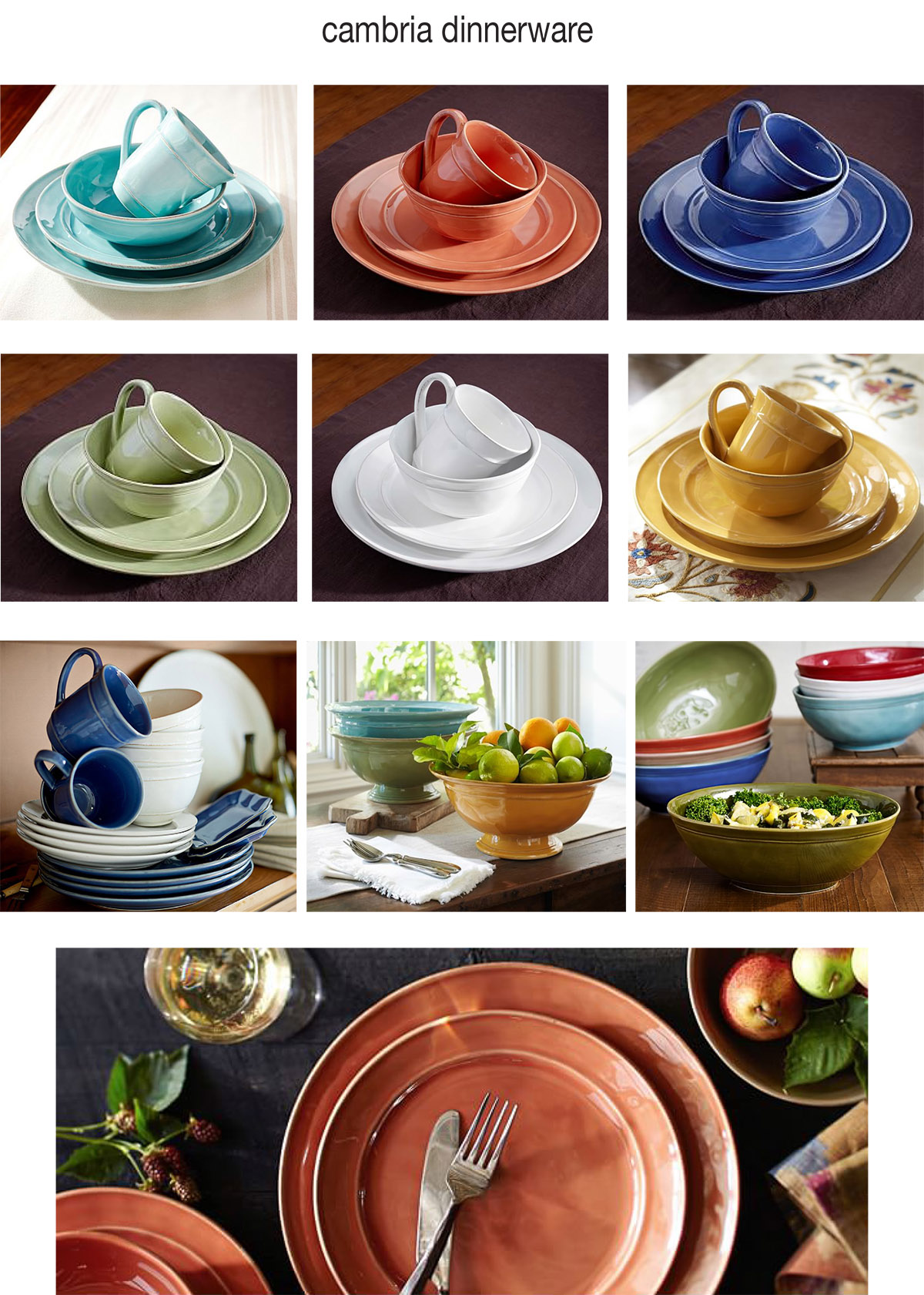 Cambria dinnerware